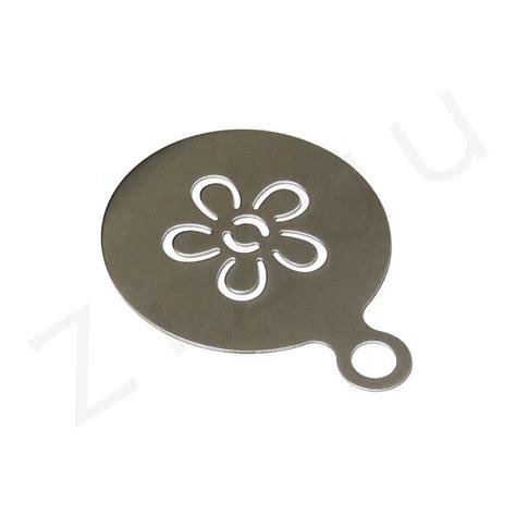 stencil fiore stencil mascherina a fiore per decorazione cappuccino inox