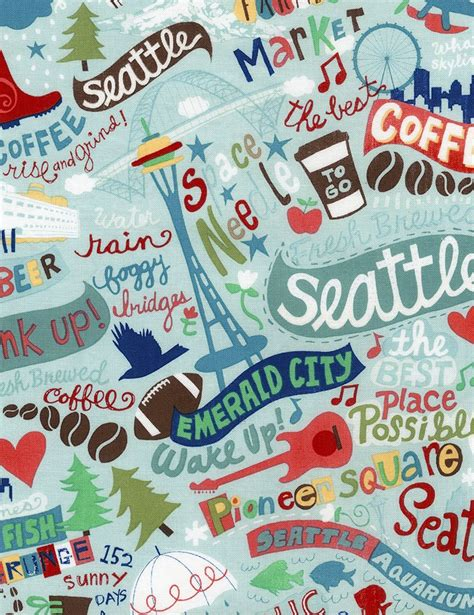 seattle map fabric seattle fabric timeless treasures 840615170794