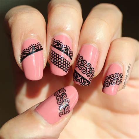Stiker Kuku Nail Stiker 9 0 99 1pc black white lace style 3d sticker decals nail decoration bornprettystore