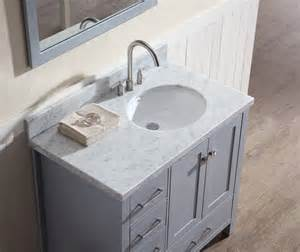 offset bathroom sink ariel cambridge 37 quot single sink vanity set w right offset