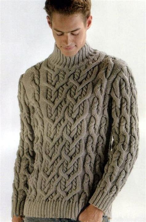 Handmade Mens Sweaters - knit sweater turtleneck knitted sweater cardigan