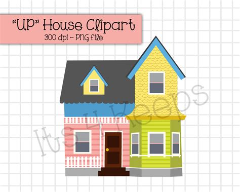 printable house up up house clipart instant download png
