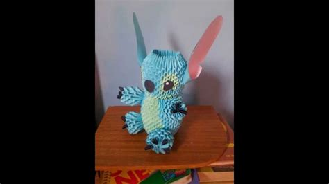 3d origami stitch tutorial lilo stitch origami 3d youtube