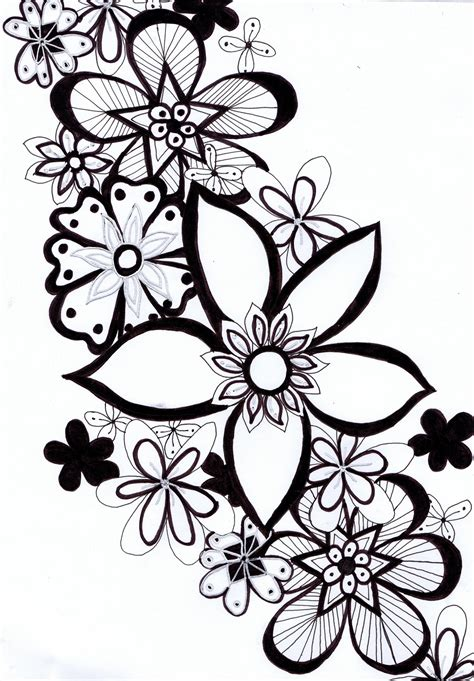 doodle flower patterns doodle drawings here s a doodle i done