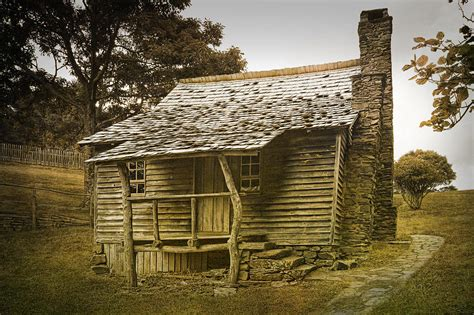 Brinegar Cabin by Brinegar Cabin In The Blue Ridge Parkway Photograph By