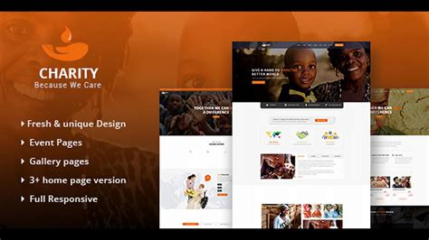 themeforest charity charity html template for charity non profit