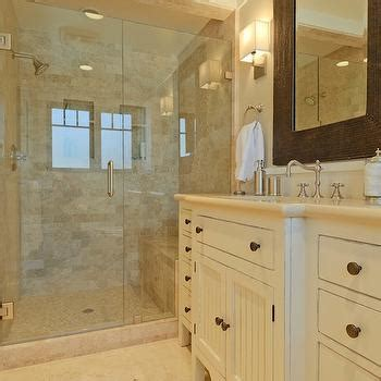 travertine tile floor transitional bathroom farinelli construction