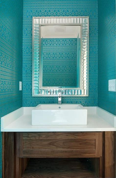 teal powder room dwell decorating with aqua teal and turquoise