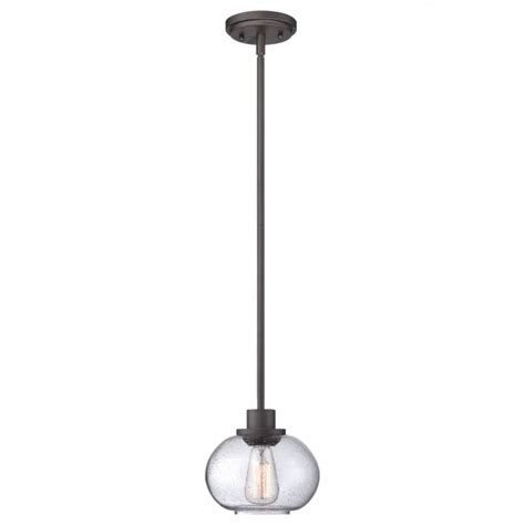 seeded glass ceiling light fixtures vintage bronze ceiling pendant w rod suspension clear