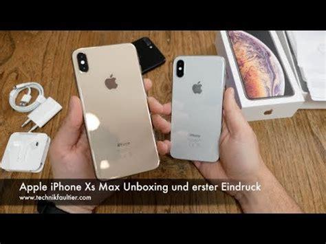 apple iphone xs max unboxing und erster eindruck