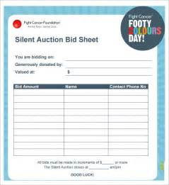 Auction Bid Sheet Template Free by Silent Auction Bid Sheet Template 30 Free Word Excel