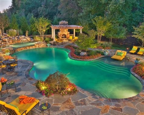 nicest backyards nice backyard pool favorite places spaces pinterest
