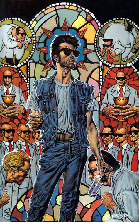 absolute preacher hc vol 1401268099 preacher cassidy stained glass glenn fabry comics glasses and stained glass