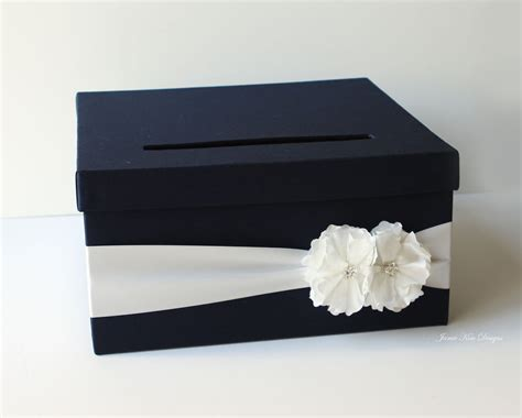 card box navy blue wedding card box 13 gorgeous wedding card and