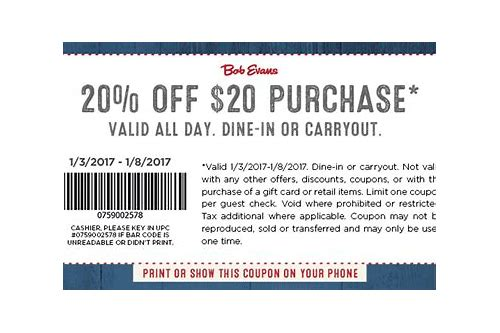 bob evans coupons for april 2018