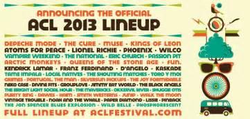 Acl 2014 Lineup City Limits Delivers 2013 Lineup Festival