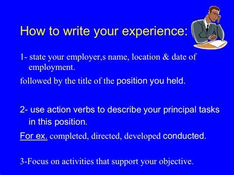 Writing A Great Resume by Writing A Great Resume