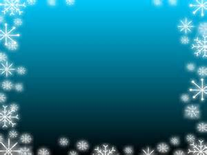 Snowflake Powerpoint Template by Blue Gradient Snowflake Ppt Backgrounds Blue Border