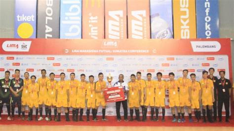 politeknik negeri sriwijaya raih gelar juara lima futsal