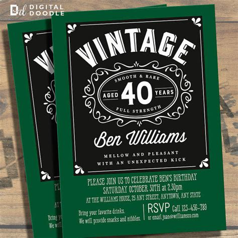 template for 40th birthday party invitation 40th birthday party invitations for men dolanpedia