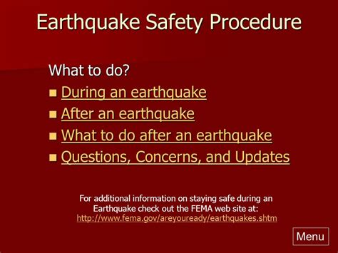 earthquake procedure residence hall emergency procedures ppt video online