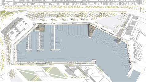 site plans ross landscape architecture perforated screens cover barcelona marina buildings by