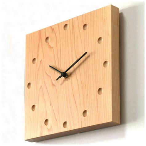 wooden wall clock square wooden wall clock in maple from japan fox and monocle