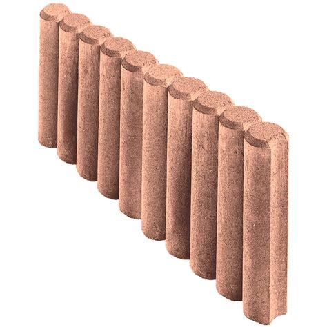 kann rundpalisaden randstein braun 50 cm x 25 cm x 6 cm