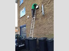 Record response for Idiots on Ladders contest ... Unsafe Ladder Safety