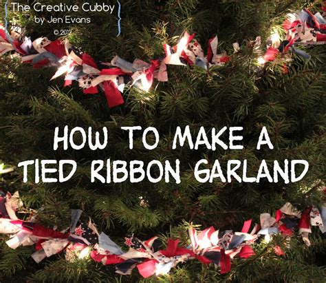 how to tie ribbon around a christmas tree the creative cubby ribbon tree garland