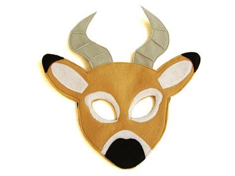 printable antelope mask children s safari animal impala felt mask
