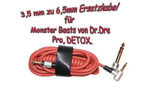 Beats By Dre Pro Detox Kabel ersatz kabel f 252 r beats by dr dre pro detox 3 5mm