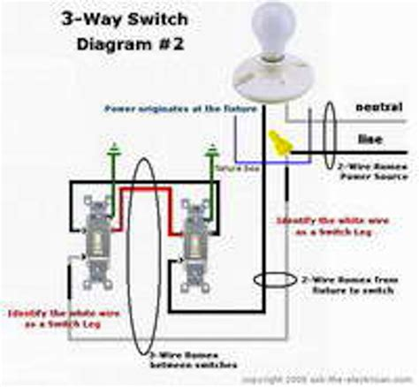 three way switch wiring diagram ceiling fan wiring
