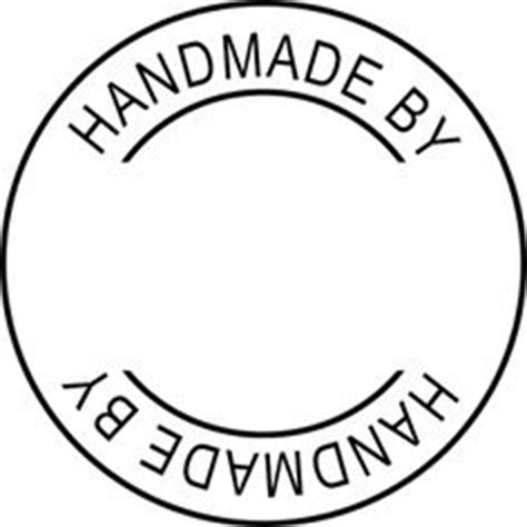 Handcrafted By Labels - handmade st labels on