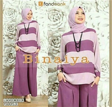 Nicer Setelan Baju Celana Kulot Muslim Wanita Set Kotak baju muslim wanita setelan celana kulot 3 in 1 modis
