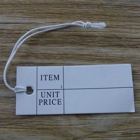 Handmade Price Tags - 100pcs white paper hanging price tags label elastic string