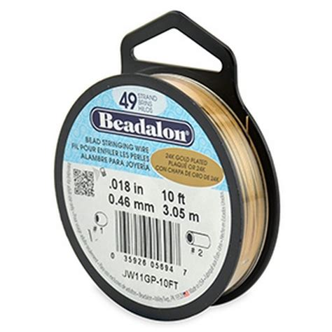 beadalon 49 strand beading wire beadalon 49 strand beading wire 0 46mm 018in gold