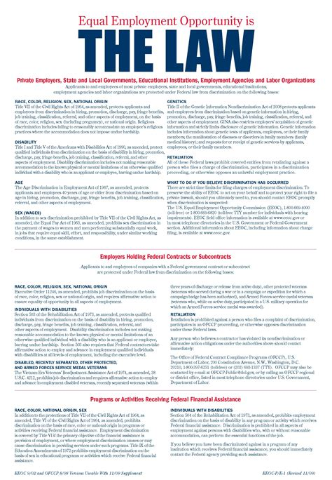 printable eeoc poster contact us the tradesmen group inc