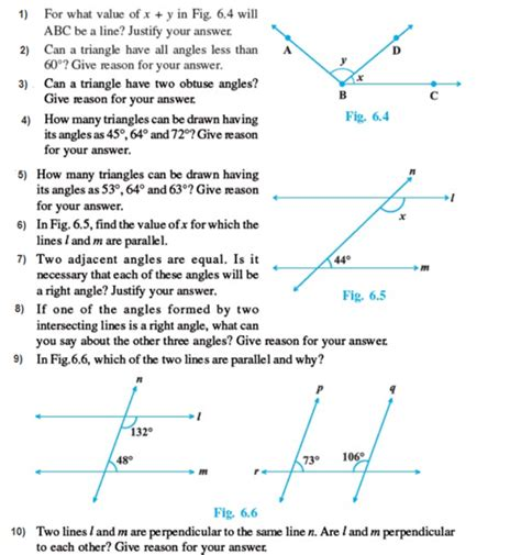 important questions for class 9 maths chapter 6 lines and