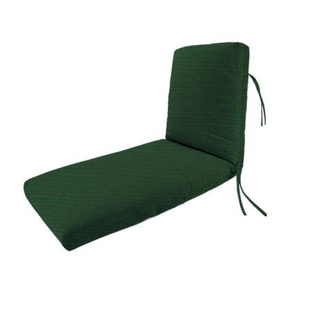 outdoor chaise lounge cushion home decorators collection sunbrella forest green outdoor