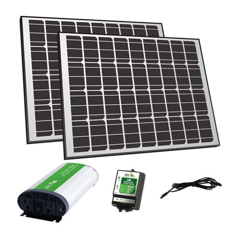 nature power 180 watt solar panel 12 volt grid charger