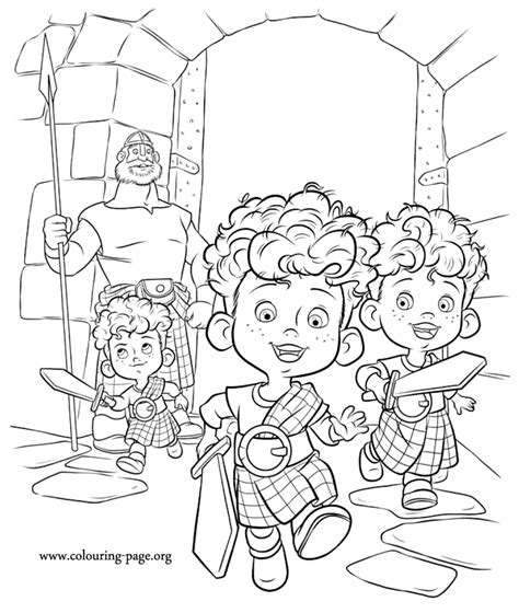coloring pages from disney movies harris hubert and hamish brave movie coloring pages