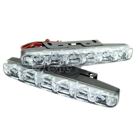 Lu Led Drl Mobil l1092x xenon white 6 led bright drl daytime running