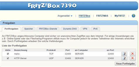 remote access port plex remote access ports freigeben fritzbox plex forums