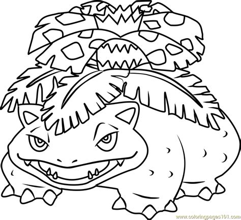 pokemon coloring pages venusaur venusaur pokemon coloring page free pok 233 mon coloring