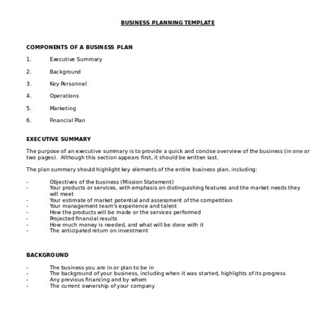 bookkeeping business plan template doc business plan