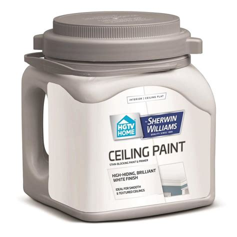 Flat White Ceiling Paint by Shop Hgtv Home By Sherwin Williams Ceiling White Flat