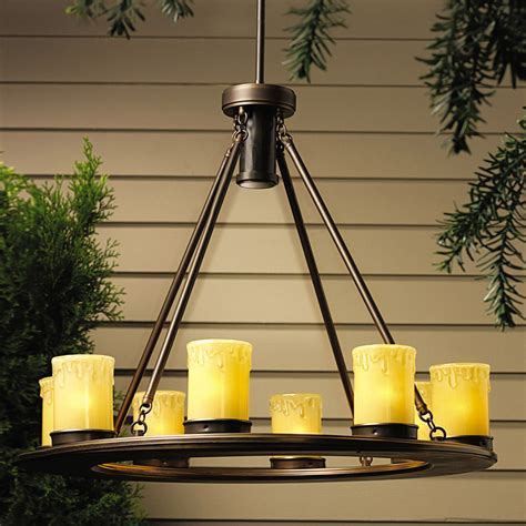 Outdoor Hanging Chandeliers Kichler 15402oz Oak Trail 12v Outdoor Chandelier
