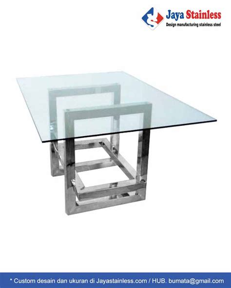Meja Makan Portable dining table 001 kaki meja makan stainless top table kaca