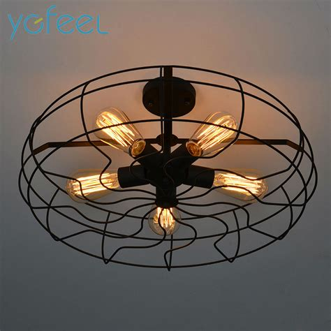 Country Style Ceiling Lights Ygfeel Ceiling Lights Vintage Retro Industrial Fan Ls American Country Style Kitchen